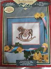 RARE Teresa Wentzler Misty Rocking Horse counted cross stitch kit
