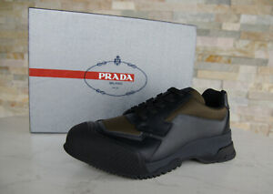 PRADA Taille 39 5 Homme Sneakers Chaussures à Lacets Multicolore Neuf Autrefois