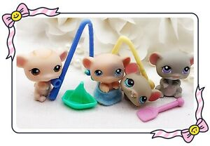 Authentic Littlest Pet Shop Mice Mouse LOT RODENTS #80 102 105 429 RED MAGNETS❤️