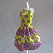 NEW 2016 Barbie Fashionista Doll Pretty Yellow & Purple Flowers Dress ~ Clothing