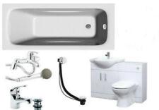 Bathroom Suite 1700mm Bath 550 Vanity Cabinet 500x300mm WC Unit BTW Pan Taps