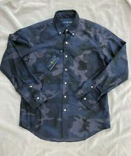 Polo Ralph Lauren Pony Military Army Camo Camouflage Classic Fit Oxford Shirt