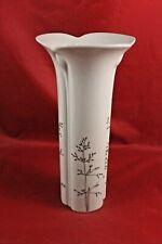 Arzberg Vase Blumenvase Cnospa weiß Tischvase Porzellan Blätter Gräser 24 cm