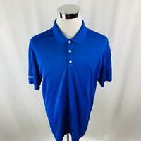 Nike Golf Dri-Fit Dell Secure Works Blue Polo Shirt Mens XL X-Large