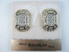 with Swarovski Crystals 0804 D'Orlan Gold Plated Clip Earring