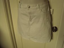 Croft and Barrow mid rise Skort Size 24W Cotton Blend White