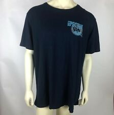 Lucky Brand Mens Graphic T Shirt Blue Good Vibrations Kataonami Beach Size Xxl