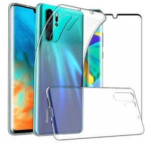 For  Huawei P30 Pro New Edition Case Gel Cover & Full Glass Screen Protector
