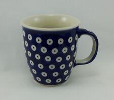 Bunzlauer Keramik Tasse MARS Dekor 70A - blau/weiß - 0,3 Liter, K081, Punkte