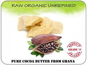 Organic Cocoa Butter 100% Natural Raw Unrefined Pure DIY skincare body cream