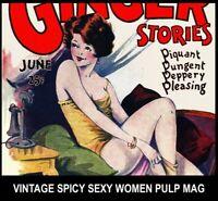 DVD Gold Age PULP MAGAZINES Vintage WOMEN PIN UP HUMOR Spicy Stories Love Girls