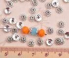 New 50pcs 6mm Round Tibetan Silver Loose Spacer Bead Caps Charm Findings
