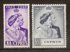 (J) Cyprus 1948 RSW Pair SG166-167 Mint Cat£60