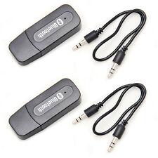 2PCS USB 3.5mm Jack Wireless Bluetooth Music Receiver Stereo Sound Audio Adapter