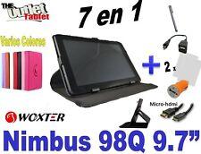 "Pack 7 en 1 Funda Tablet Woxter PC NIMBUS 98Q 9.7"" pulgadas 97Q 97 98 Micro-hdmi"
