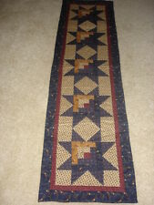 LOG CABIN STAR*TABLE RUNNER QUILT PATTERN~INSTRUCTIONS ONLY~BY COUNTRY STITTCHES