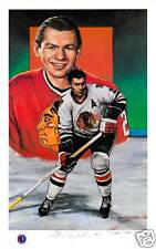 Stan Mikita Autographed Legends of Hockey Lithograph