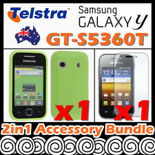 Samsung Galaxy Y GT-S5360T Telstra Green Soft Silicone Rubber Gel Case Cover