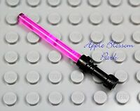 NEW Lego Star Wars PINK LIGHT SABER Princess Leia Minifig Jedi Weapon Black Hilt