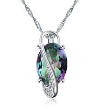 silver white gold color crystal necklace wedding colors jewelry women noble cute