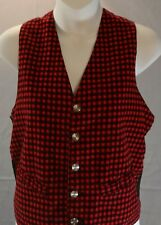 Pennleigh Vest Size Medium Women's  Red and Black Checked