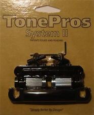 LPBM04-B Tone Pros Standard (US/Imperial Thread) Bridge/Tailpiece Set, Black