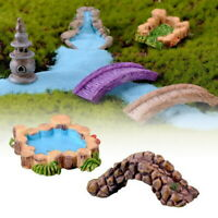 Miniature Thatched Fairy Garden Landscape Figurine Craft Garden Home DIY Decor