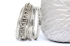 Women's Fashion Boho  Silver Color Bangle Bracelet Set Silver/Black