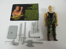 1994 Hasbro Street Fighter The Movie Complete Figure Sonic Boom Guile  - Capcom