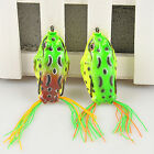 New Green Large Frog Topwater Fishing Lure Crankbait Hooks Bass Bait Tackle