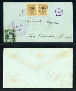 EL SALVADOR Postal History: Lot #16 1902 10c POSTAGE DUE GUATEMALA - S SALVADOR