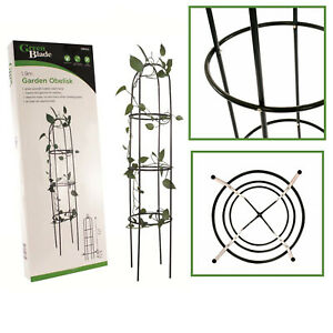 1.9m Garden Metal Obelisk Outdoor Flower Climbing Plant Support Frame