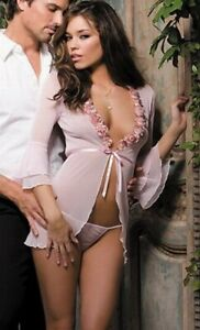 Sexy Babydoll Lingerie Pink Roses