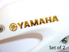 145x20mm Yamaha Gold Badge Motorbike Motorcyscle Decal Fuel Tank Sticker 3D