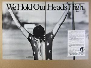 1984 Alexi Grewal USA Gold Medalist Cyclist photo 7-Eleven vintage print Ad