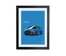 MK3 Ford Focus RS Artwork Poster Print - All colours available