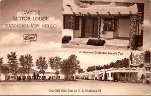 Postcard Cactus Motor Lodge on Route 66 in Tucumcari, New Mexico~4050