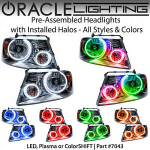 ORACLE Pre-Assembled Halo Headlights for 04-08 Ford F150 Mark LT *All Colors