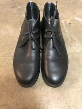 Salvatore Ferragamo Black World Metro II Chukka Men's Boots Size 8.5 US