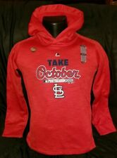 St Louis Cardinals Majestic 2015 TAKE October Youth M Hoodie NEW MLB Baseball