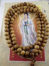 Big 17mm Tibet Buddhism 108 Peach wood Prayer Bead Mala Necklace