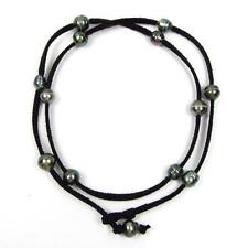 "30"" Baroque Tahitian Pearl Black Cord As Bracelet, Anklet or Necklace"