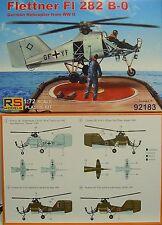 Flettner FI-282 B-0, Luftwaffe Helikopter Prototyp, RS- Models, Plastik, Neu