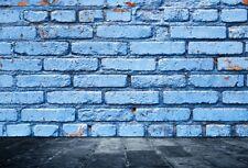 9x6ft Blue Brick Wall Studio Photo Backdrops Vinyl Photography Backgrounds Props