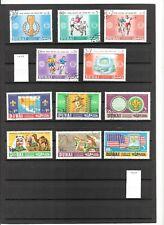 N°571 A,B,C - DUBAI  ( 1966-73 ) 24 timbres neufs et oblitérés + Bloc