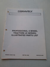Original Gravely ~ 4-Wheel Tractors H Series Parts List ~ 42040(11-86)