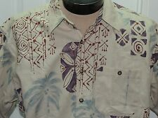 13340912e8 Men s Grande The Territory Ahead Camisa Manga Curta mescla de linho Palmeira  Tropical Tan