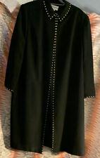 John Meyer Collection * 22W * Women's * Long Dress Coat * Black