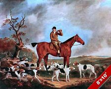 FOX HUNT COACHING HORN RIDER HORSE FOXHUNTING HUNTING ART PAINTING CANVAS PRINT