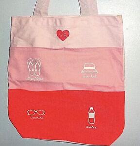 NEW Victorias Secret Tote Pool Beach Bag Pockets Sunglasses Water Flip-Flops $68
